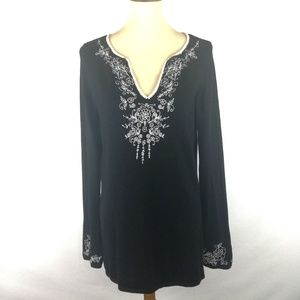 INC International Concept Embroidered Blouse.